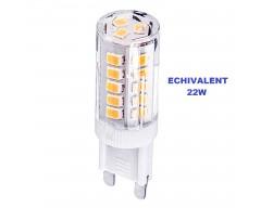 BEC LED 33SMD - 3W G9 3000K 230V - Alb Cald