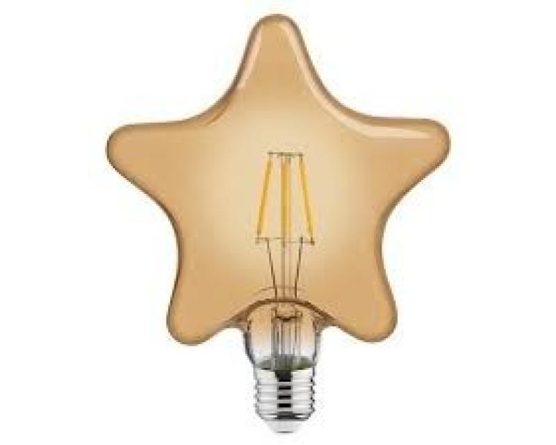 Bec decorativ LED COG 6W rustic Star-6 E27 LUMEN