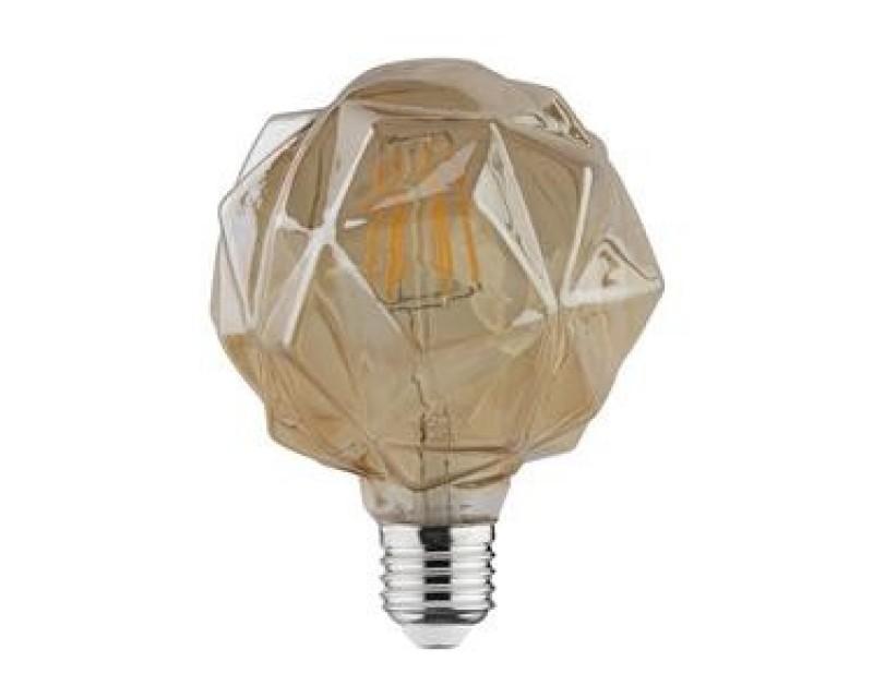 Bec decorativ LED COG 6W rustic Crystal-6 E27 HOROZ