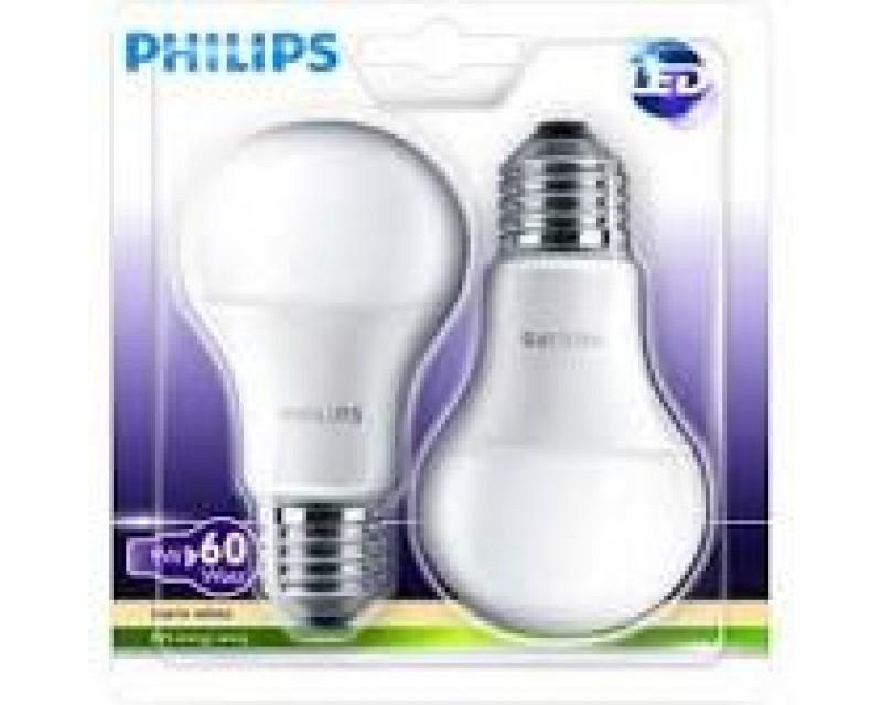 Bec led Philips E27 -2buc-9w