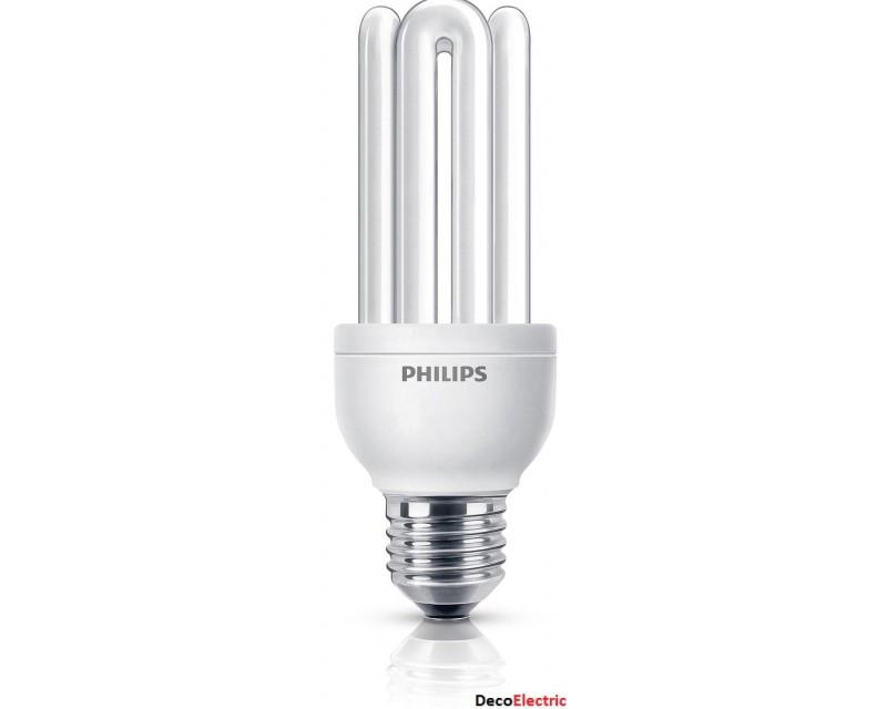 Bec economic Philips Genie Long Life 23W (100W) , Soclu E27 , Alb cald
