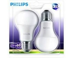 Bec led Philips E27 -2buc-9w